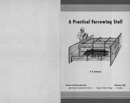 mm A Practical Farrowing Stall T. K. Johnson