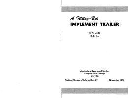 IMPLEMENT TRAILER /t 7du*tf-'3ed 0
