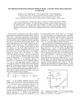 One-Dimensional Disordered Bosonic Hubbard Model: A Density-Matrix Renormalization Group Study Rahul Pandit,