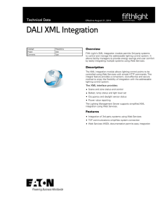 DALI XML Integration Technical Data Overview
