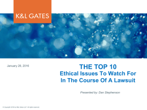 THE TOP 10  Ethical Issues To Watch For