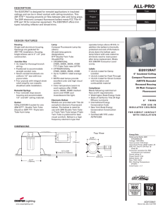 DESCRIPTION The EI2072RAT is designed for remodel applications in insulated