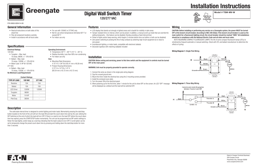 Wall Switch Timer Wiring Diagram on