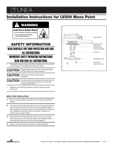 HALO Installation Instructions for LV209 Mono Point WARNING ®