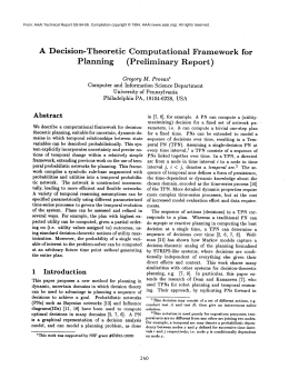 A  Decision-Theoretic Computational Framework  for Planning