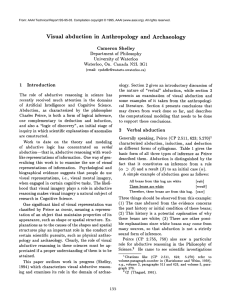 Visual  abduction  in  Anthropology and  Archaeology