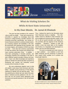 What do Visiting Scholars Do While At Kent State University?