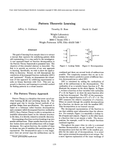 Pattern  Theoretic Learning