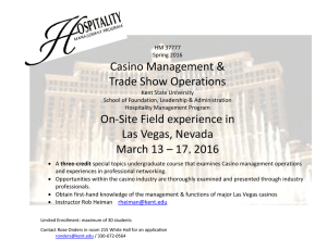 Casino Management & Trade Show Operations