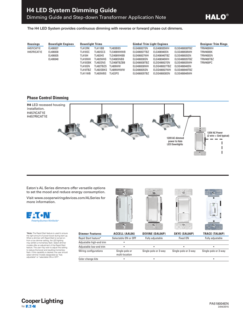 Halo H4 Led System Dimming Guide Rapid Start Wiring Diagram