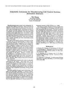 Adjustable Autonomy  for  Manufacturing Cell  Control  Systems