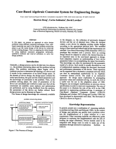 Case-Based  Algebraic  Constraint  System for  Engineering ...