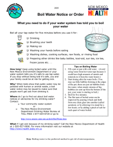 Boil Water Notice or Order your water