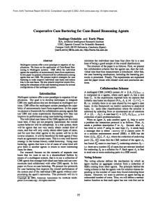 Cooperative  Case  Bartering  for  Case-Based ... Santiago  Ontafi6n  and Enric  Plaza