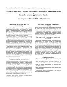 Acquiring (and Using) Linguistic (and World) Knowledge for Information Access or