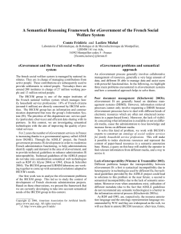 A Semantical Reasoning Framework for eGovernment of the French Social