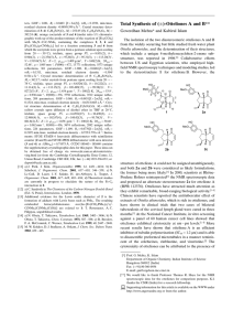 )-Otteliones A and B** Total Synthesis of (