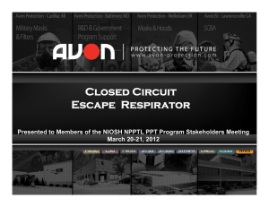 Closed Circuit Escape  Respirator March 20-21, 2012