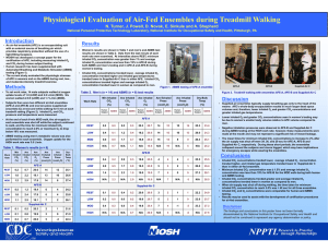 Physiological Evaluation of Air-Fed Ensembles during Treadmill Walking
