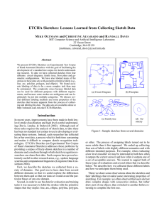 ETCHA Sketches: Lessons Learned from Collecting Sketch Data M O and C