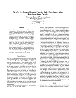 Web Service Composition as a Planning Task: Experiments using Knowledge-Based Planning