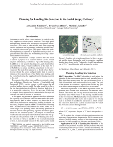 Planning for Landing Site Selection in the Aerial Supply Delivery