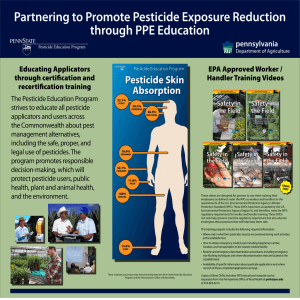 Partnering to Promote Pesticide Exposure Reduction through PPE Education pennsylvania