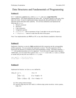 Data Structures and Fundamentals of Programming  Problem #1