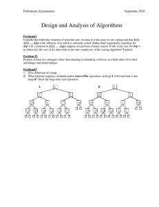 Design and Analysis of Algorithms Preliminary Examination  September 2010