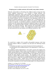 Designing quasi crystalline molecular self-assembly using cellular automata nearest neighbour interaction.[1]