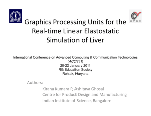 Graphics Processing Units for the Real-time Linear Elastostatic Simulation of Liver