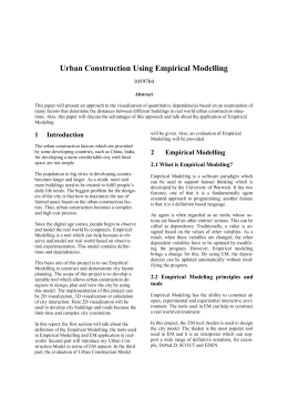 Urban Construction Using Empirical Modelling 1059704