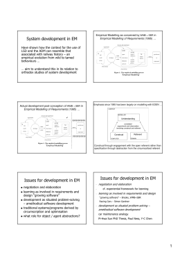 System development in EM
