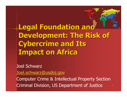 Legal Foundation and Development: The Risk of Cybercrime and Its Impact on Africa
