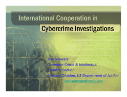 International Cooperation in Cybercrime Investigations