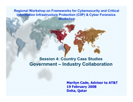 Regional Workshop on Frameworks for Cybersecurity and Critical