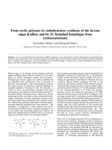From cyclic polyenes to carbohydrates: synthesis of the hexose