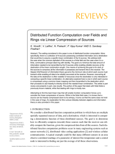 REVIEWS Distributed Function Computation over Fields and K. Vinodh