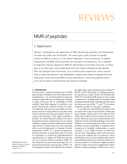 REVIEWS NMR of peptides S. Raghothama