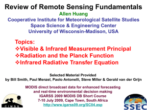 Review of Remote Sensing Fundamentals