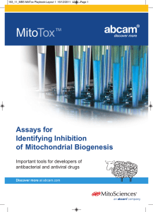 Mito Tox Assays for Identifying Inhibition