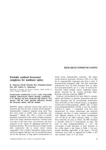 Partially oxidized ferrocenyl RESEARCH COMMUNICATIONS