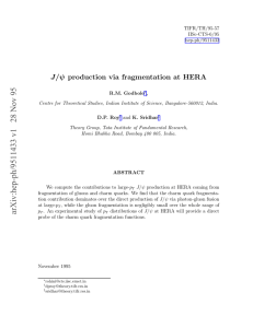 J/ψ production via fragmentation at HERA