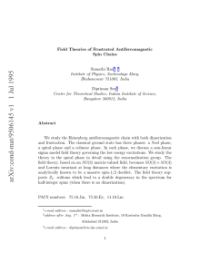 Field Theories of Frustrated Antiferromagnetic Spin Chains Sumathi Rao