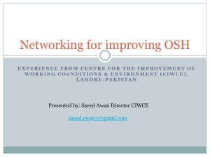 Networking for improving OSH