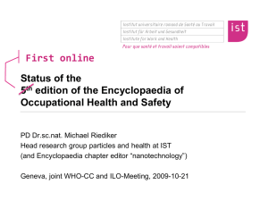 First online Status of the 5 edition of the Encyclopaedia of