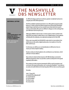 THE NASHVILLE DBS NEWSLETTER