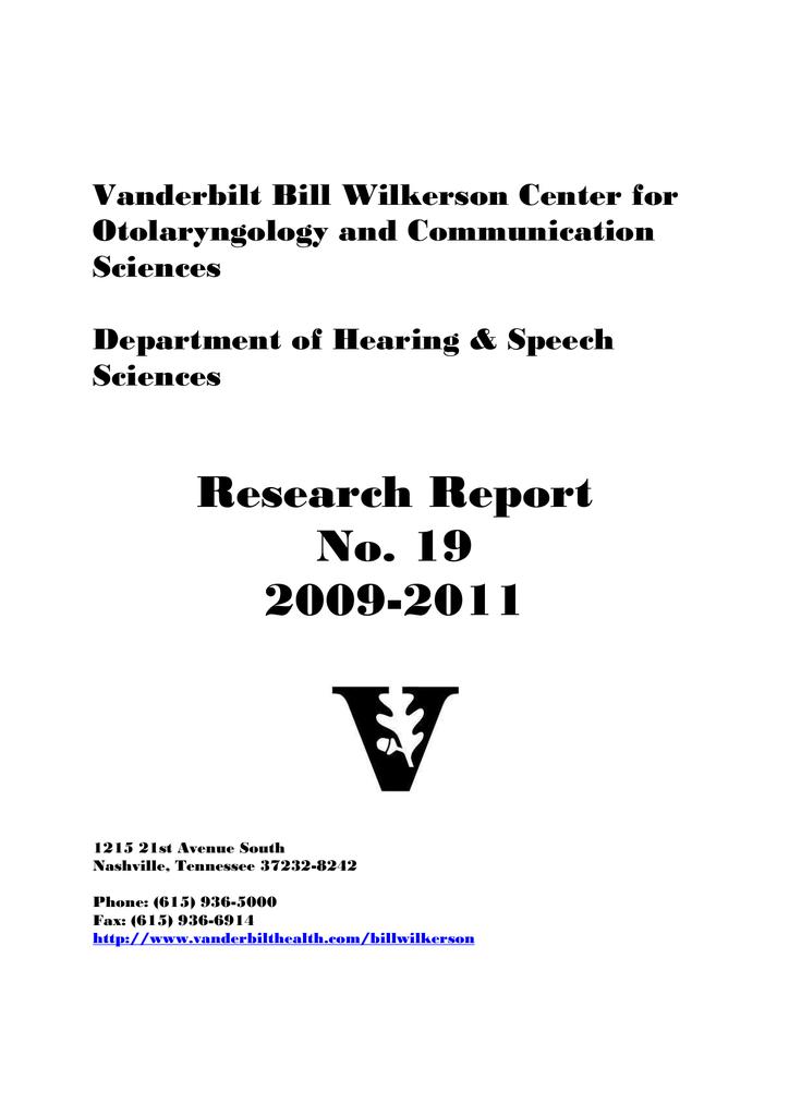 Vanderbilt Bill Wilkerson Center for Otolaryngology and