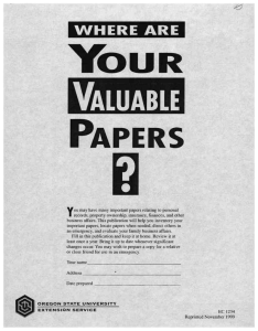 YOUR PAPERS VALUABLE WHERE ARE