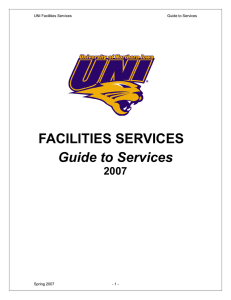 Guide to Services FACILITIES SERVICES 2007